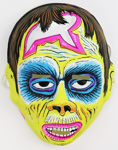 Vintage Phantom of the Opera Halloween Mask Monster Zombie British Import 1970s