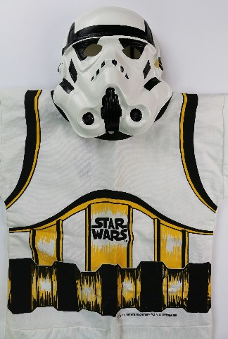 Original Ben Cooper Star Wars Storm Trooper Halloween Mask and Costume 1977 Vintage