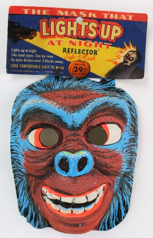 Vintage Ghoul Monster Halloween Mask Star Band 1960's Y45