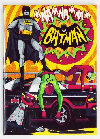 Batman Fridge Magnet Adam West Joker Dc Comics 1960 S