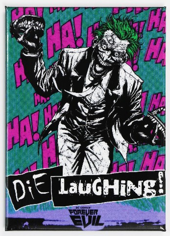 The Joker Die Laughing Fridge Magnet Batman Dc Comics