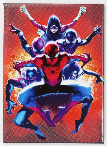 Spiderman And Friends Fridge Magnet Marvel Comics The