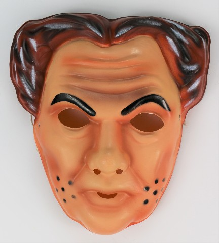 Vintage Dick Tracy Flattop Jones Sr. Halloween Mask Walt Disney Ben Cooper