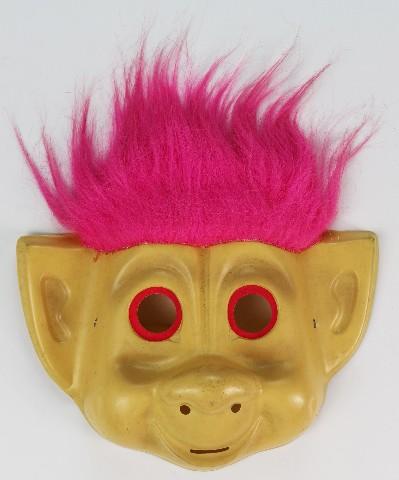 Vintage Troll Doll Halloween Mask Rubies 1992