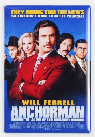 Anchor Man Movie Poster Fridge Magnet Comedy Funny Will