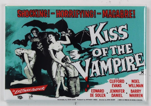 Kiss of the Vampire Movie Poster FRIDGE MAGNET 1950's Horror Universal Monster Dracula