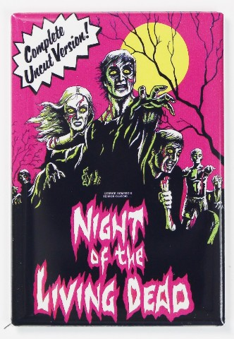 Night Of The Living Dead Movie Poster Fridge Magnet
