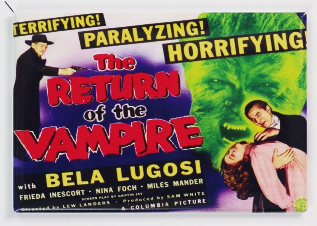 Return Of The Vampire Movie Poster Fridge Magnet Wolfman