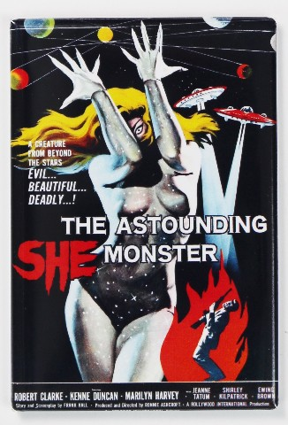 The Astounding She Monster Movie Poster FRIDGE MAGNET 1950's Sci Fi