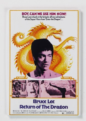 Return of the Dragon Movie Poster FRIDGE MAGNET Bruce Lee Chuck Norris Martial Arts MMA