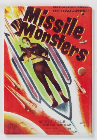 Missile Monsters Movie Poster Fridge Magnet 1950 S Sci Fi