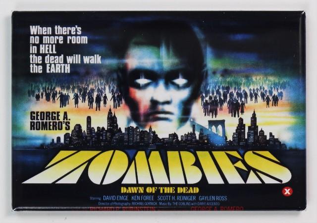 George Romero Dawn of the Dead Zombie Movie Poster FRIDGE MAGNET Horror Walking Dead