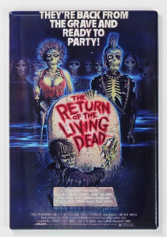 The Return of the Living Dead Movie Poster FRIDGE MAGNET Romero Zombie Horror