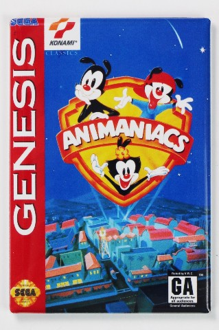 Sega Genesis Animaniacs Video Game Fridge Magnet Arcade