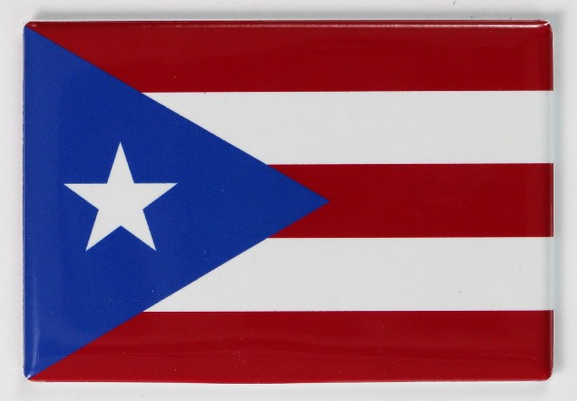 Puerto Rico Flag FRIDGE MAGNET San Juan