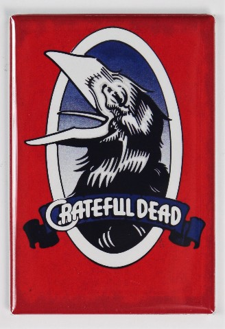 Grateful Dead Crow Logo Concert Poster FRIDGE MAGNET Jerry Garcia