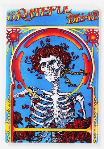 Grateful Dead Skeleton Logo Concert Poster FRIDGE MAGNET Jerry Garcia