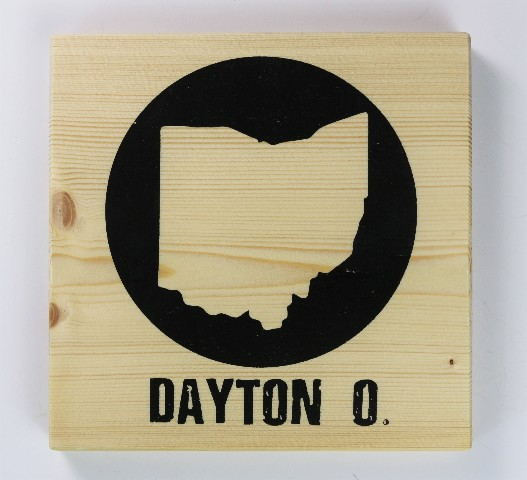 Dayton Ohio Screen Printed Wood Tile Wall Decor W Easy