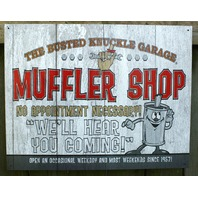Busted Knuckle Garage mechanic Muffler Shop Tin Sign Garage Mancave Business s7