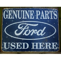 Ford Genuine Parts Tin Sign Ford Truck Car Collectors Garage Mancave F57