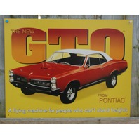 The New Pontiac GTO Tin Sign Flying Machine Ad Muscle Car V8 Garage Man Cave 21a