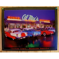Al Macs Diner Resturant Tin Sign Classic Chevy Ford Cars Garage Man Cave F55