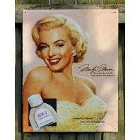 Marilyn Monroe Make Up New U Ad Tin Sign Movie Star Pin Up Girl Hollywood s28