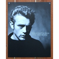 James Dean Dream Forever Quote Tin Sign Movie Star Giant Rebel Hollywood B81