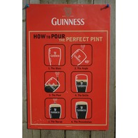 Guinness Tin Sign Man Cave Garage Bar Poker Room Beer Alcohol Pint Glass Red G17