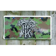 Camo Kentucky Wildcats License Plate Truck Car Military NCAA UK Basketball 9A