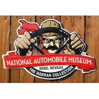 National Automobile Museum Large Tin Sign Nevada Race Car Show Collector Hot Rod