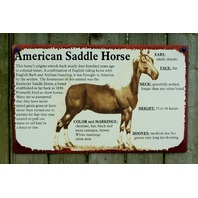 American Saddle Horse Tin Metal Sign Horse Country Kitchen Home Farm Rodeo 13A