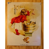 Ivory Soap Girl Busy Day Tin Sign Americana Laundry Country Home Decor E120