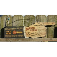 Shakers Best Seeds Garden Center Wood Sign Country Kitchen Farm Vintage Style