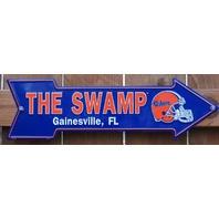 University of Florida Gators The Swamp Tin Metal Arrow Sign NCAA Football C49