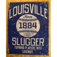 Louisville Slugger Tin Sign MLB Baseball Bat Kentucky Yankees Red Sox Dodger E124
