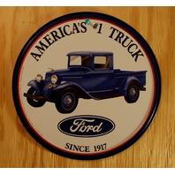 Ford Americas #1 Truck Tin Round Sign F Series V8 Hot Rod Triton Garage 150 B29