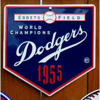 Dodgers 1955 Ebbets Field Metal Sign MLB Baseball Brooklyn LA  Los Angeles E22