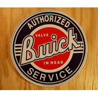 Buick Authorized Service Tin Round Sign Valve Mechanic Garage Skylark V8 A37