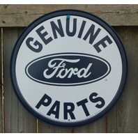 Ford Genuine Parts Tin Round Sign Man Cave Garage Truck F Series Mustang Car B20