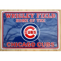 Wrigley Field Home Of Chicago Cubs Aluminum Tin Metal Sign MLB Baseball Bar D57