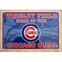 Wrigley Field Home Of Chicago Cubs Aluminum Tin Metal Sign MLB Baseball Bar D57