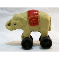 Cast Iron Circus Elephant Piggy Bank Hand Painted Childrens Toy Vintage Style