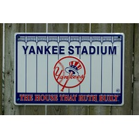 New York Yankees Yankee Stadium Tin Sign MLB Baseball Bronx Sports Man Cave  24A