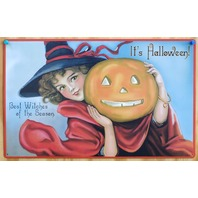 Its Halloween Best Witches Of The Season Tin Sign Trick Or Treat Pumpkin B1