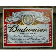 Budweiser King of Beers Label Tin Sign Bar Garage Man Cave Business Bottles S2
