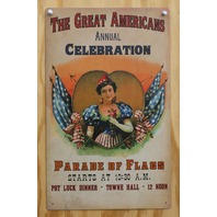The Great Americans Parade Of Flags Tin Sign Patriotic American Flag USA Z75