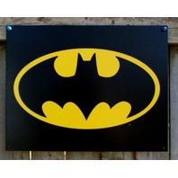 Batman Classic 1989 Logo DC Comics Tin Sign Comic Book Superhero Bat Signal D47