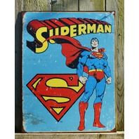 DC Comics Superman Tin Metal Sign Garage Man Cave Bar Clark Kent Superhero 19A