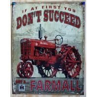 Farmall Tin Sign Farm Tractor Country Barn International Harvester IH 10A